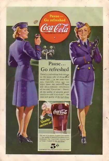 Coke Pause Go Refreshed (1942)