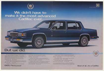 Cadillac Fleetwood Most Advanced Ever Dbl-Page (1985)