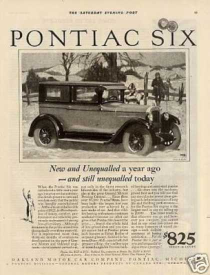 "Pontiac Six Car Ad ""New and Unequalled... (1927)"