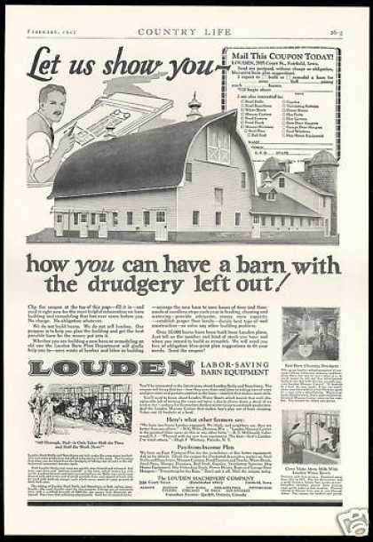 Louden Labor Saving Barn Equipment Machinery (1927)