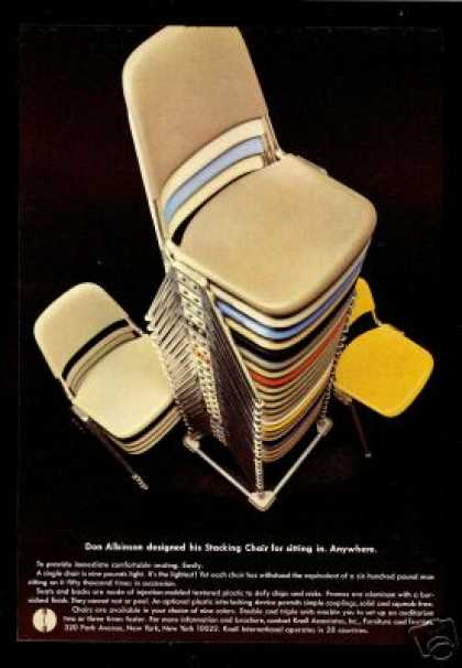 Knoll Furniture Albinson Design Stacking Chair (1967)