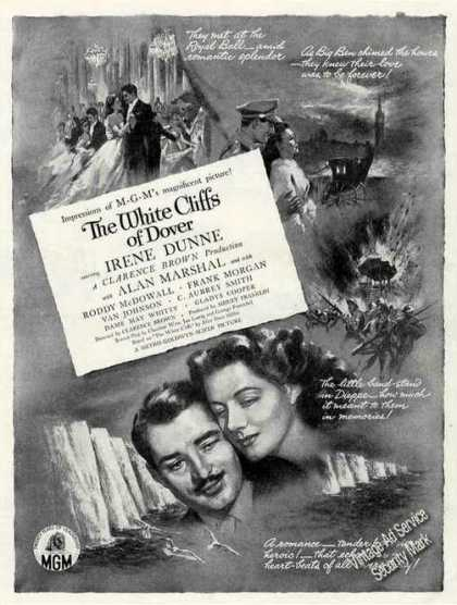 "Irene Dunne ""The White Cliffs of Dover"" Movie (1944)"