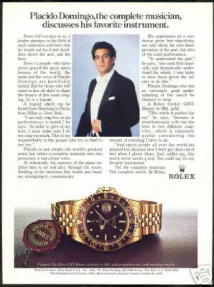 Placido Domingo Photo Rolex GMT Master Watch (1985)