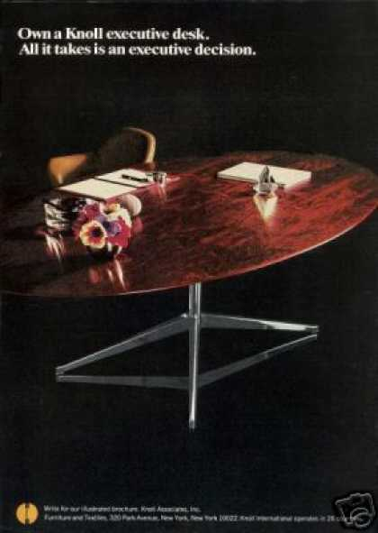 Knoll International Furniture Executive Desk (1968)