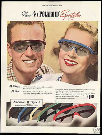 American Optical Polaroid Sportglas Sunglasses (1946)
