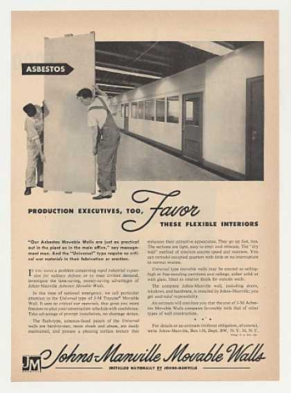 Johns-Manville Asbestos Movable Walls (1951)