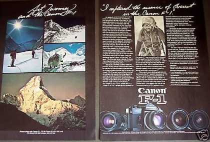 Art Twomey Mt. Everest Photos Canon F-1 Camera (1977)