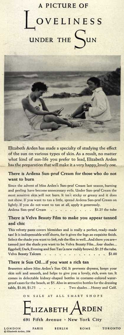 Elizabeth Arden's Exercise and Skin Treatment – A Picture Of Loveliness Under The Sun (1939)