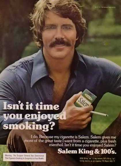 Salem – Men of Salem Cigarette – Isn't it time you enjoy smoking (1977)