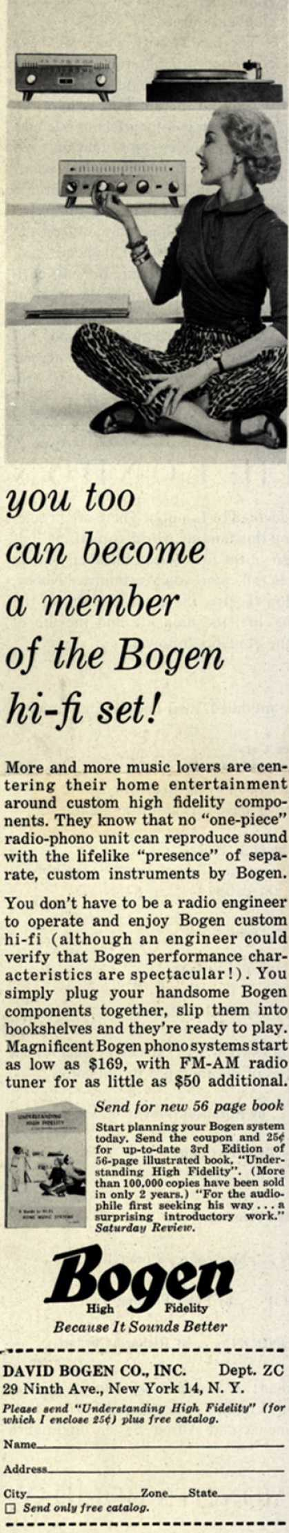 David Bogen Co.'s Various – You too can become a member of the Bogen hi-fi set (1956)