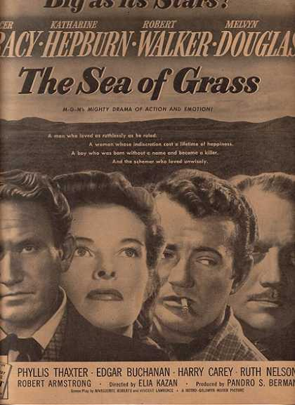 The Sea of Grass (Spencer Tracy, Katharine Hepburn, Robert Walker and Melvyn Douglas) (1947)