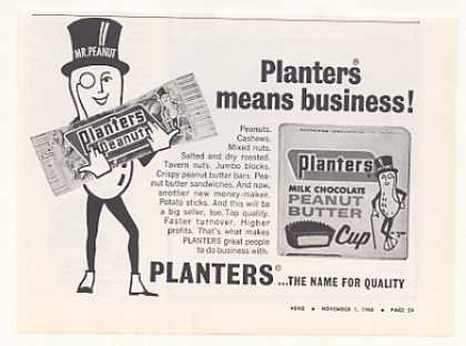Planters Mr Peanut Butter Cup Vending Trade (1968)