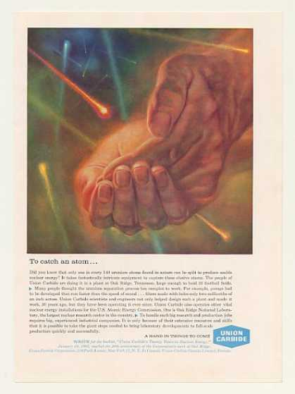 Union Carbide Catch an Atom Hand Nuclear Energy (1963)