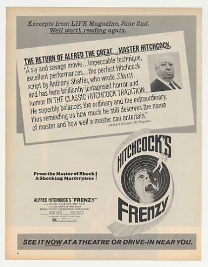 Alfred Hitchcock Frenzy Movie Photo (1972)