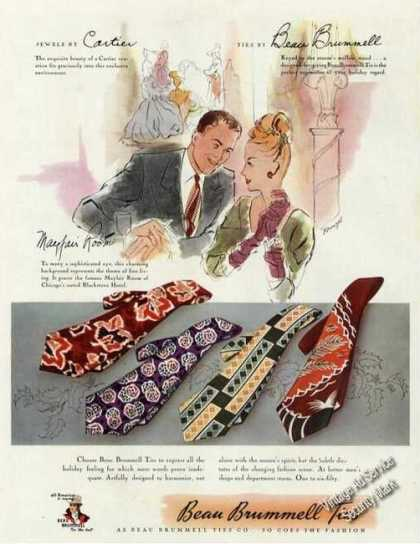 Cartier/mayfair Room/beau Brummell Ties (1946)