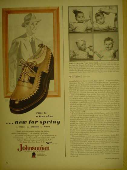 Johnsonian Mens shoes. New for spring (1949)