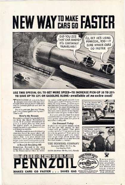 Pennzoil's slippery (1934)