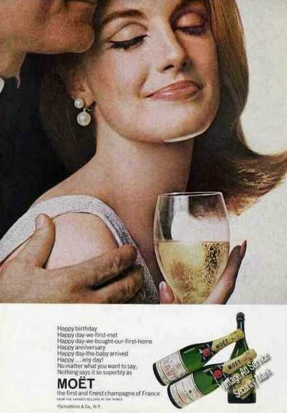 Moet French Champagne Happy Birthday (1967)