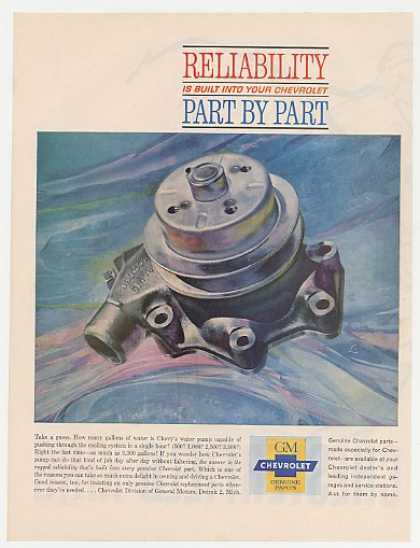 Chevy Water Pump Genuine Chevrolet Parts (1961)