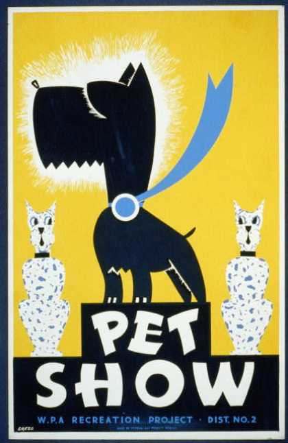 Pet show – WPA recreation project, Dist. No. 2 / Gregg. (1936)