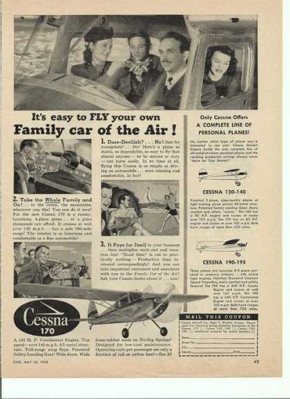 Cessna 170 Airplane (1948)