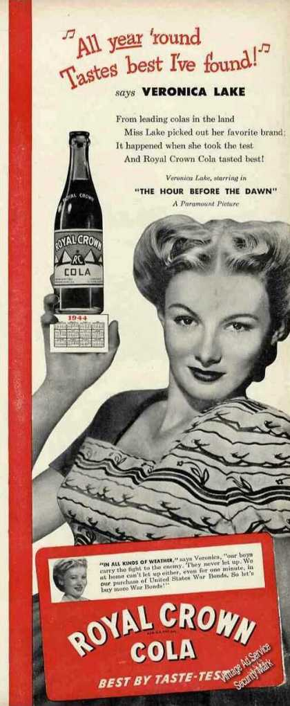Veronica Lake Photo Royal Crown Cola (1944)