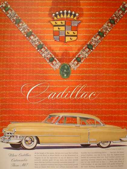 Cadillac Beautiful Jewelry themed ad Emerald (1950)