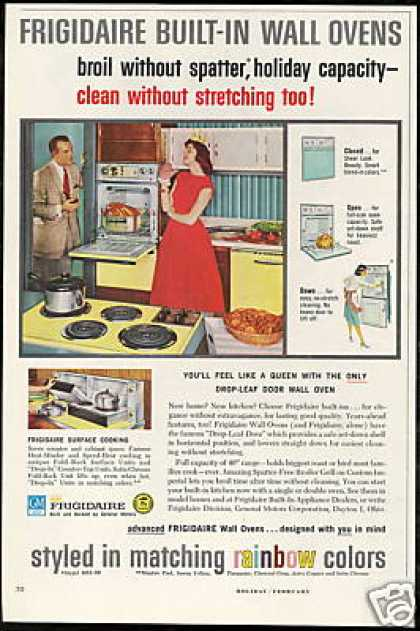 GM Frigidaire Yellow Kitchen Oven Appliances (1959)