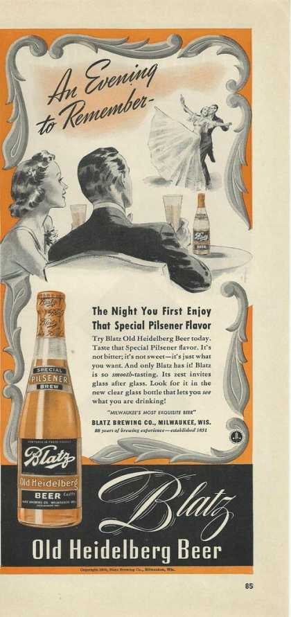 Blatz Old Heidelberg Beer (1939)