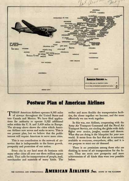 American Airline's Postwar Airflights – Postwar Plan of American Airlines (1944)