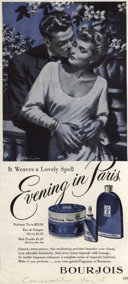 Bourjoi's Evening in Paris Cosmetics – It weaves a Lovely Spell (1948)