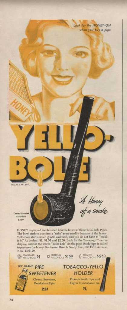 Yello Bole Tobacco Pipe (1946)