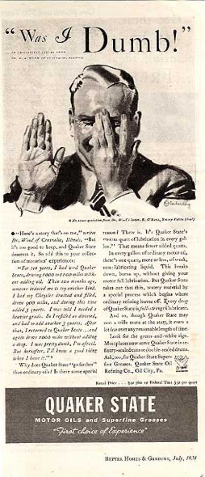 Quaker State's goes farther (1934)