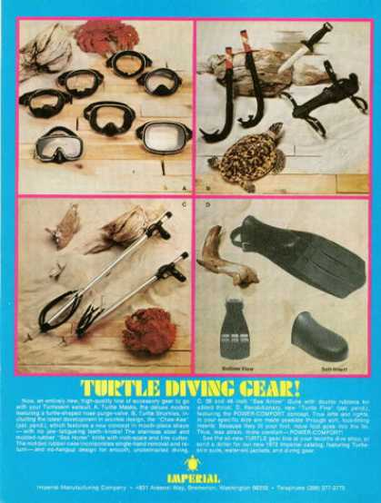 Imperial Turtle Diving Gear Mask Speargun Knife (1972)