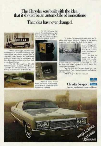 "Chrysler Newport ""An Automobile of Innovations"" (1973)"