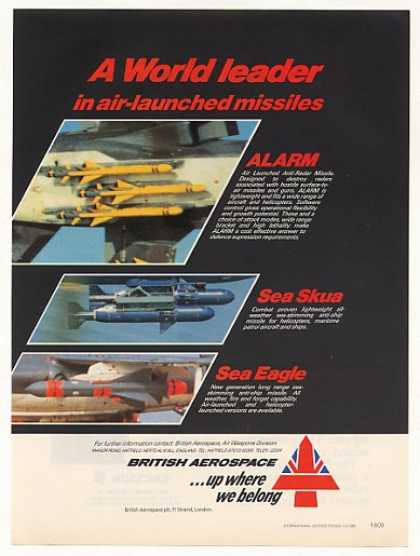 British Aerospace ALARM Sea Skua Eagle Missiles (1986)