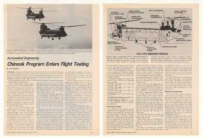 Chinook YCH-47D Prototype Helicopter Photo Article (1979)