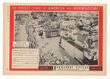Drug Fair Store Arlington VA Hermsdorf Fixtures (1957)