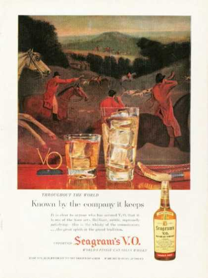 Seagram's Whiskey Fox Hunting On Horse Back (1958)