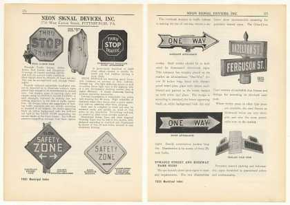 Neon Signal Devices Traffic Signs (1931)