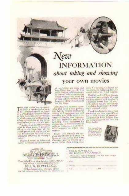Bell & Howell Filmo Camera – New Information (1928)