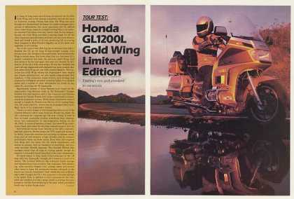 Honda GL1200L Gold Wing Limited Edition 8-Pg Test (1985)