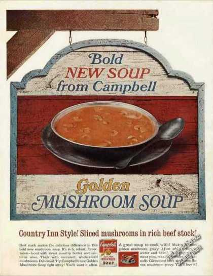 Campbell's Golden Mushroom Soup Collectible (1967)