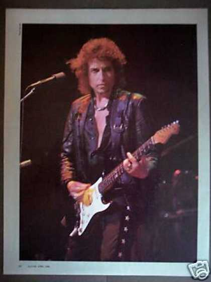 Bob Dylan With Fender Guitar Promo Photo (1986)