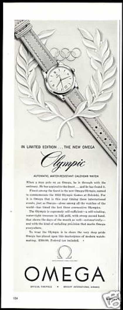 Omega Limited Edition Olympic Watch (1952)