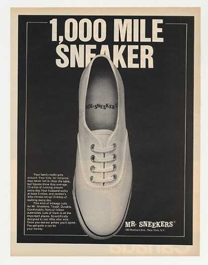 Mr Sneekers 1,000 Mile Sneaker Shoe Photo (1970)