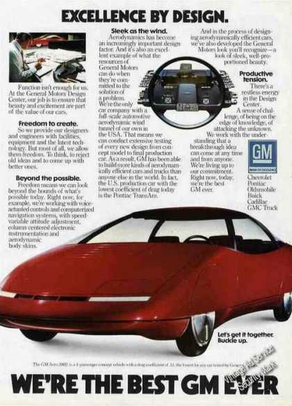 "Gm Aero 2002 Concept Car ""Excellence By Design"" (1983)"