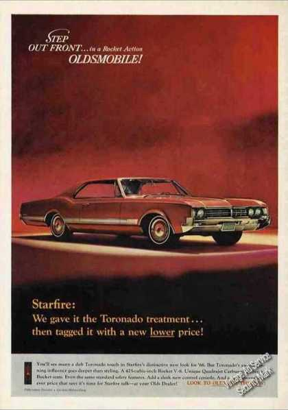 Red Oldsmobile Starfire Dramatic Photo (1966)