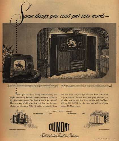 Allen B. DuMont Laboratorie's Television – Some things you can't put into words - (1948)