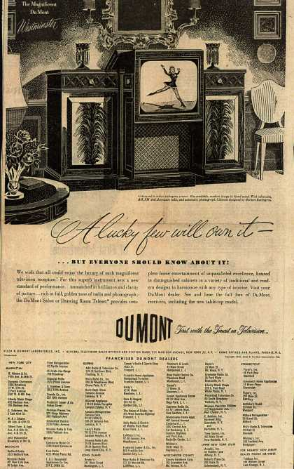 Allen B. DuMont Laboratorie's Television – A lucky few will own it - (1948)